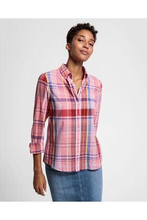 Gant Kadın Kırmızı Regular Fit Gömlek