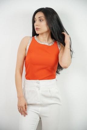 Lila Rose Kadın Turuncu Bluz