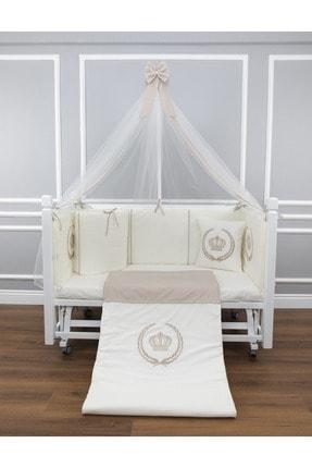 Taş Rengi Cibinlikli Royal Uyku Seti 80x140 CR80140TAS