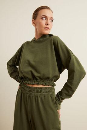 adL Kapüşonlu Crop Sweatshirt