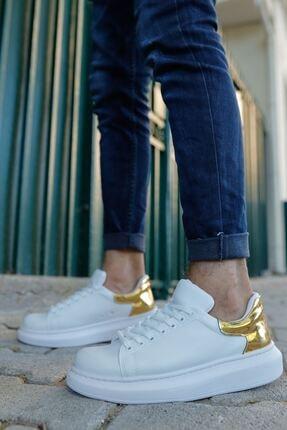 Chekich Kadın Beyaz Altın Ayakkabı Ch259 Bt