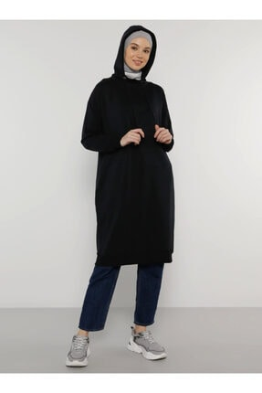 Everyday Basic Kadın Lacivert Kapüşonlu Sweatshirt