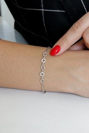 Argentum Concept Kadın Gümüş Minimal Dizi Halkalar Bileklik - B078301