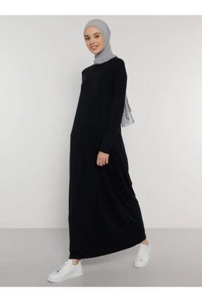 Everyday Basic Kadın Lacivert Viskon Kumaşlı Basic Elbise