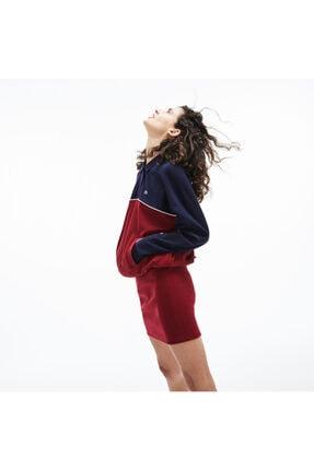 Lacoste Motion Kadın Desenli Lacivert-Bordo Elbise