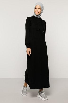 Everyday Basic Kadın Siyah Kapüşonlu Elbise  1686559