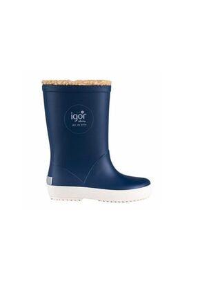 IGOR Kız Çocuk Mavi Splash Nautico Borreguito Yağmur Çizmesi