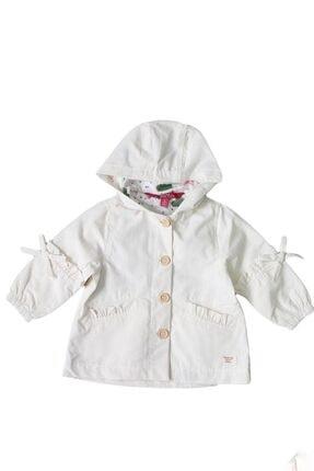Midimod Kız Çocuk Bej Kapüşonlu Yağmurluk