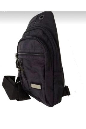 Seventeen Unisex Siyah Paraşüt Kumaşlı Sırt Ve Göğüs Çanta