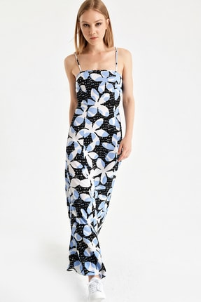Armani Kadın Lacivert Çiçekli Elbise