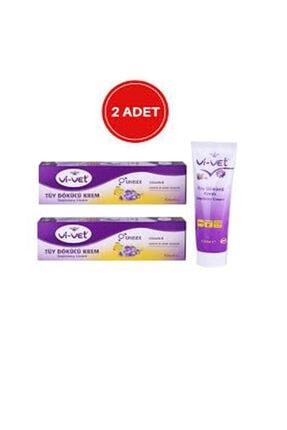 Vi-Vet Vivet Tüy Dökücü Krem 100 ml Depilatory Cream Unısex E Vitaminli 2 Adet