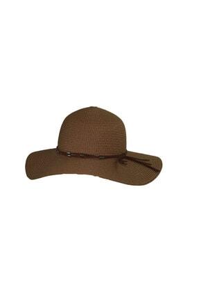 Bay Şapkaci Kadın  Kahverengi Hasır Şapka