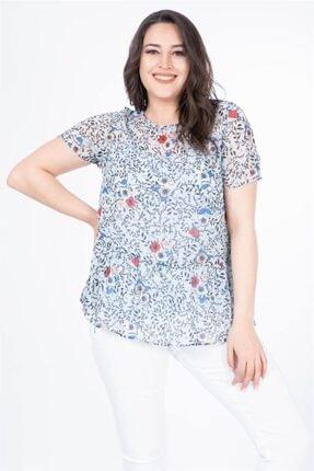 MYLİNE Kadın Açık Mavi Astarlı Şifon Bluz 34630