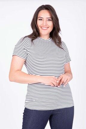 MYLİNE Kadın Beyaz Sıfır Yaka Basic Bluz 34832