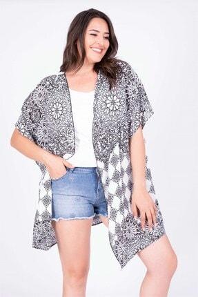MYLİNE Kadın Beyaz Kimono 34896