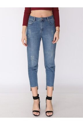 Twister Jeans Kadın Mavi Mom Pantolon 9179-01 01