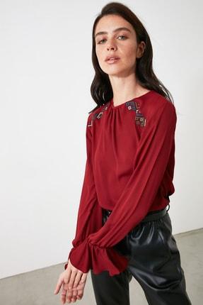 TrendyolMilla Bordo Nakışlı Bluz TWOAW21BZ0769