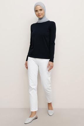 Everyday Basic Kadın Lacivert Uzun Kollu Basic Tişört  1645888