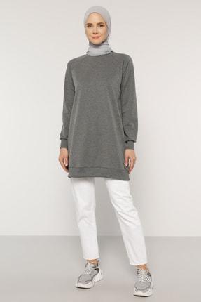 Everyday Basic Kadın Antrasit Basic Sweatshirt  1744331