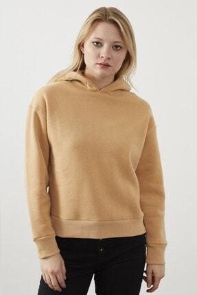 VENA Kadın Camel Alycıa  Sweatshirt