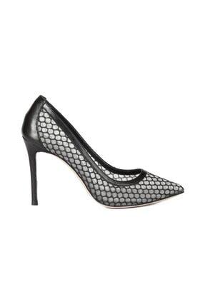 Sofia Baldi Kadın Siyah File  Stiletto & Abiye Ayakkabı