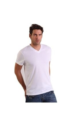 Thermoform Erkek Microfiber V Yaka T-shirt