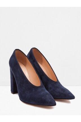 Vekem Kadın Lacivert Kadife Topuklu Ayakkabı 7221-0003