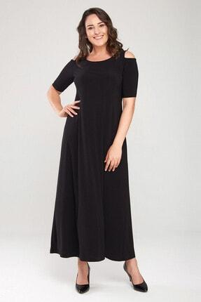 Laranor Kadın Siyah Omuz Detaylı Elbise