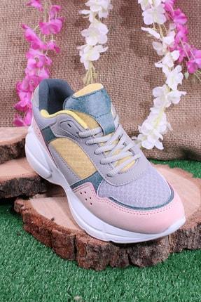 Kinetix Unisex Pudra Haki Günlük Sneaker Yürüyüş Spor Ayakkabı
