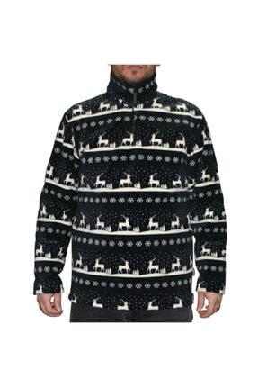 Thermoform Unisex Siyah Fermuarlı Polar Sweat Shirt xl