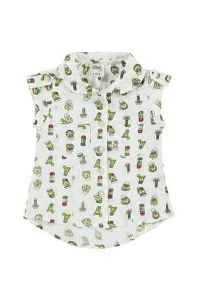Civil Kız Bebek Ekru Gömlek 6-18 Ay