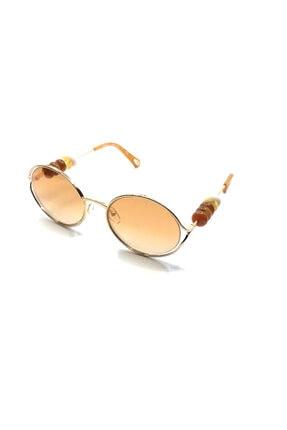 Chloé Kadın Kahverengi Güneş Gözlüğü Ce 167s - 57 / 21/ Gold / Gradıent Burnt Flash Elec