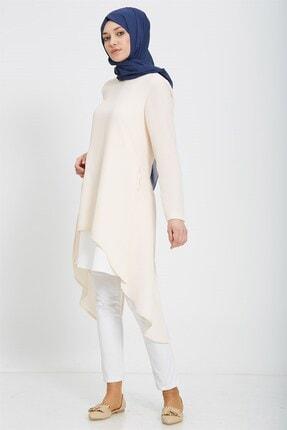 Nihan Kadın Pembe Beli Büzgülü Tunik X5228