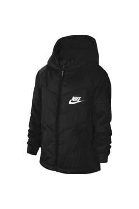 Nike Unisex Çocuk Siyah Mont