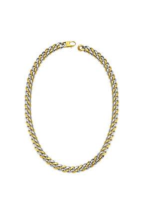 LUZDEMIA Curb Necklace Gold/white