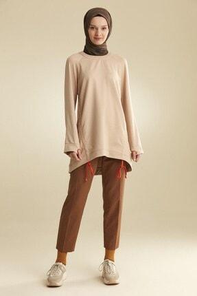 Tuğba Kadın Bej İp Detaylı Sweatshirt