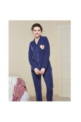 PJS PİJAMA Kadın Lacivert Pijama Takımı