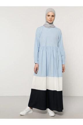 Benin Kadın Mavi Garnili Elbise 610034