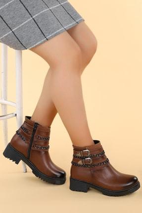 Ayakland Kadın Kahverengi Cilt Termo Taban Bot N1983-5005