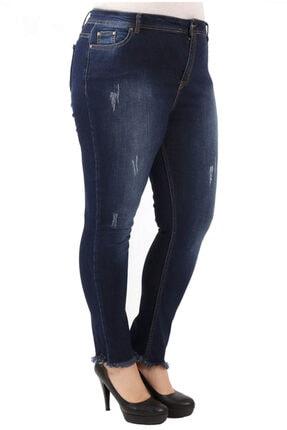 Günay Kadın Lacivert Kot Yüksek Bel Dar Paça Pantolon Rg1288