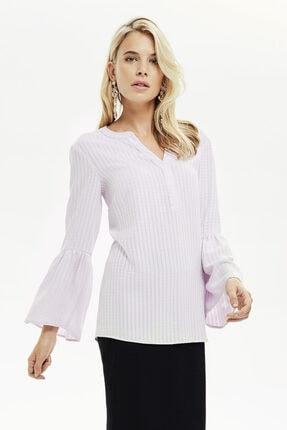 Naramaxx Kadın Lila Kolu Volanlı Bluz