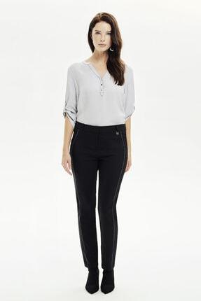 Naramaxx Kadın Siyah Klasik Dar Kesim Pantolon
