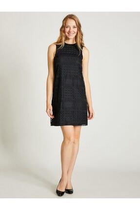 Vekem Kadın Siyah Kolsuz Dantel Elbise 9109-0137