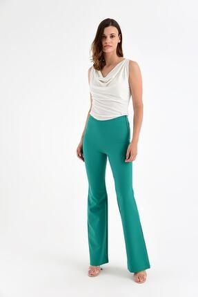 Laranor Kadın Yeşil Bol Paça Pantolon