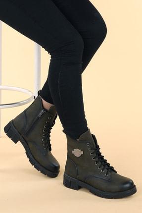 Ayakland Ymr 224 Cilt Termo Taban Kadın Fermuarlı Bot Ayakkabı