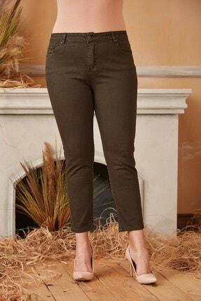 Rmg Kadın Haki Büyük Beden Pamuk Pantolon