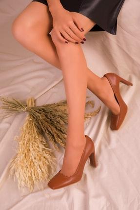 SOHO Taba Kadın Klasik Topuklu Ayakkabı 15519