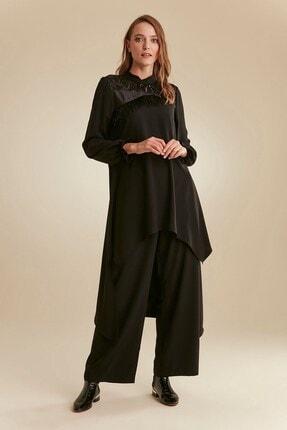 Nihan Kadın Siyah Pantolon Tunik Takım