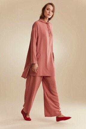 Nihan Kadın Gül Kurusu Pantolon Tunik Takım C4171