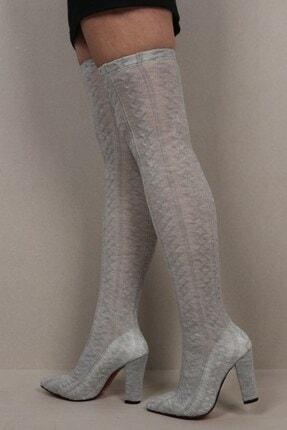 Derigo Kadın Gri Çizme 69101